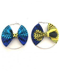 Ohrringe blau gelb