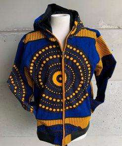 Jacke blau gelb